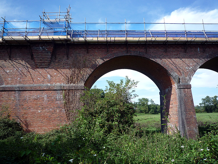 The parapet of Hockley Viaduct