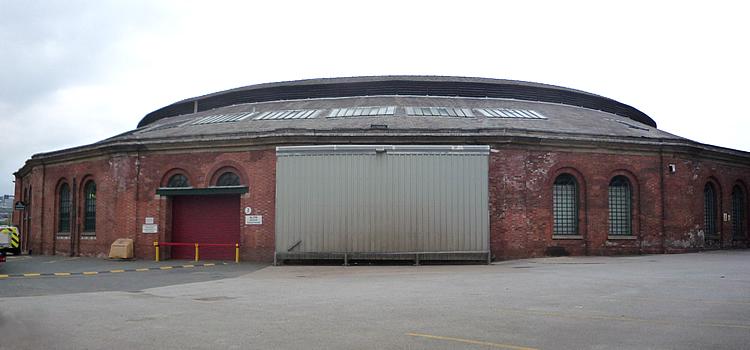 Railway roundhouse at Leeds