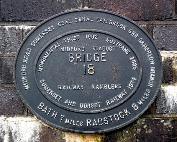 Midford Viaduct Plaque